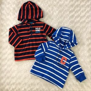 Carter's Hooded Shirts Size 3 Months Stripes Blue